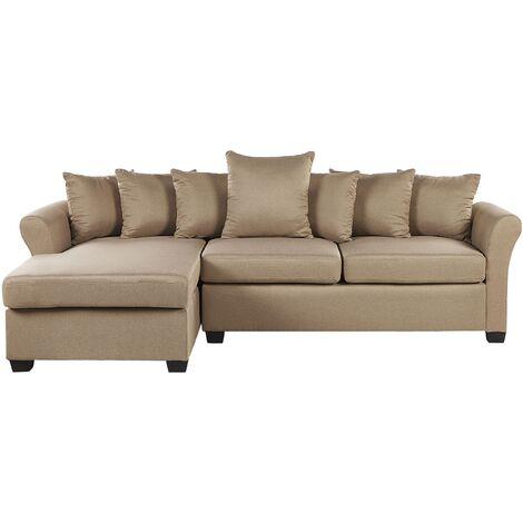 Right Hand Corner Sofa Beige VIKNA