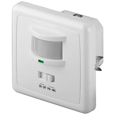 rilevatore sensore di movimento crepuscolare da incasso 220-240 volt IP20 bianco wnt 95171