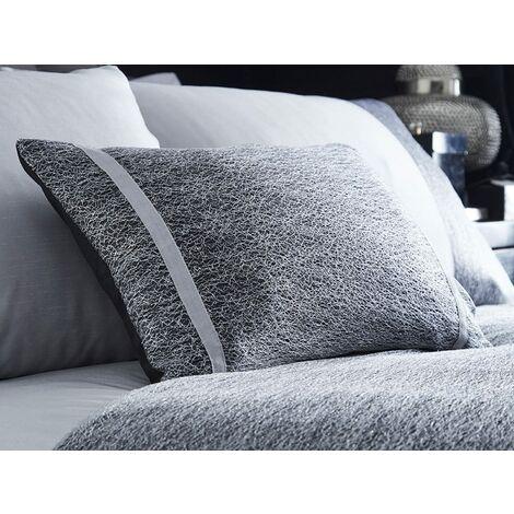 Rimini Filled Cushion 32 x 50cm Bed Sofa Accessory Filled Decor Silver