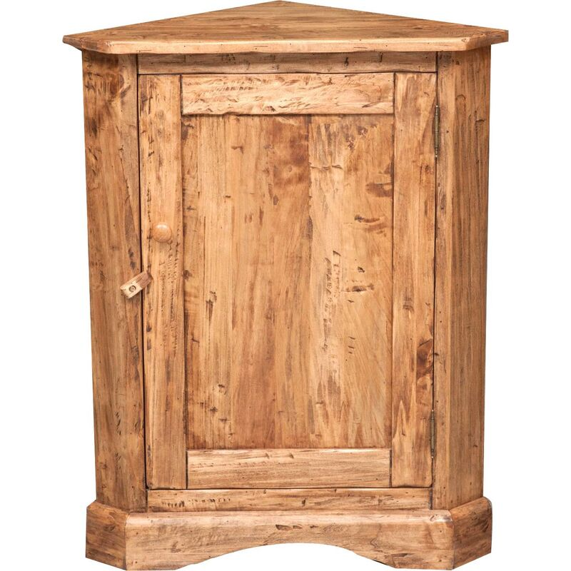 Rinconera de estilo Country de madera maciza de tilo acabado con efecto natural made in italy - BISCOTTINI
