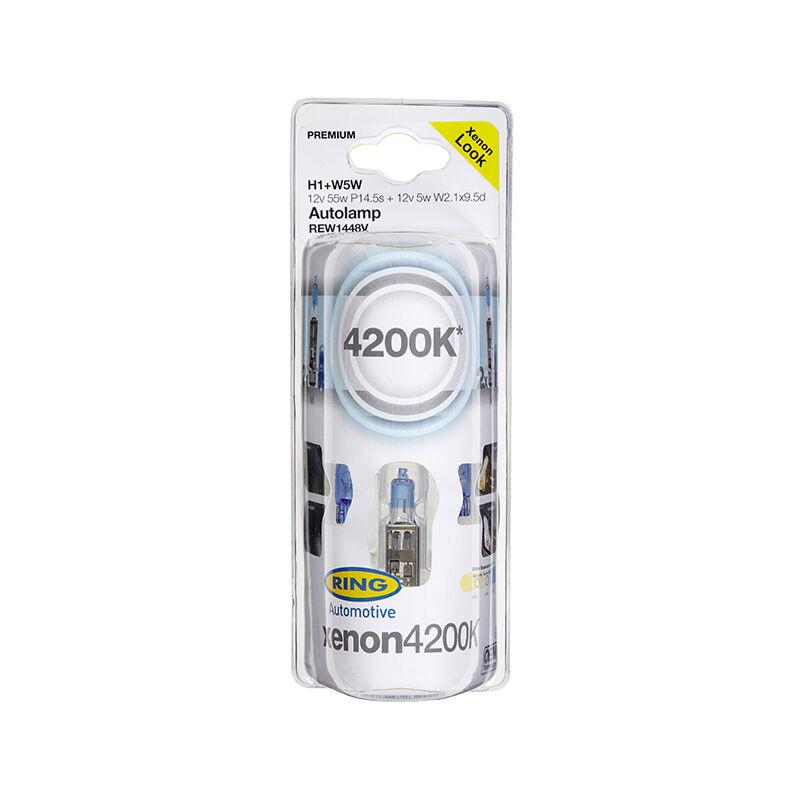 Ampoule Xenon Look H4 + W5W - REW1472V - 12V 60/55W P43t + 12V 5W W2.1x9.5d - lot de 2 Ring