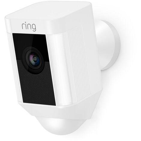 Ring - Caméra autonome extérieure - Spotlight Cam Battery (Blanc) - 4462229 - Blanc