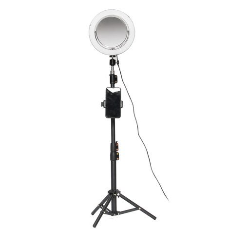 """main image of """"Ring Dimmable Beauty Light 3 Lights And Makeup Mirror + Selfie Bluetooth Remote Control Hasaki"""""""