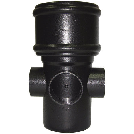 Ring Seal Soil Boss Pipe Single Socket - 110mm Cast Iron Effect