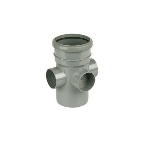 Ring Seal Soil Boss Pipe Single Socket - 110mm Grey