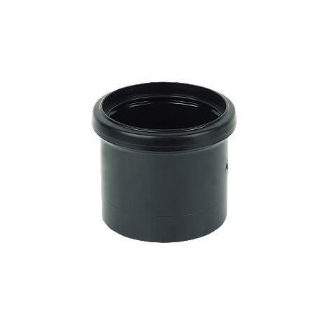 Ring Seal Soil Coupling Single Socket - 110mm Black