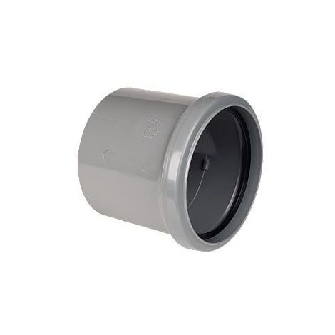 Ring Seal Soil Coupling Single Socket - 110mm Grey