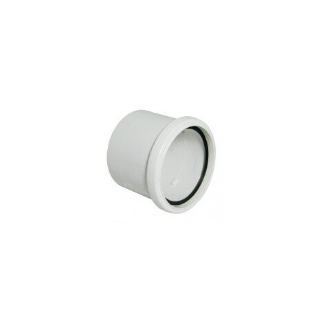 Ring Seal Soil Coupling Single Socket - 110mm White