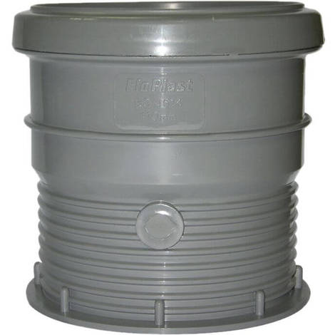 Ring Seal Soil Drain Connector - 110mm Grey