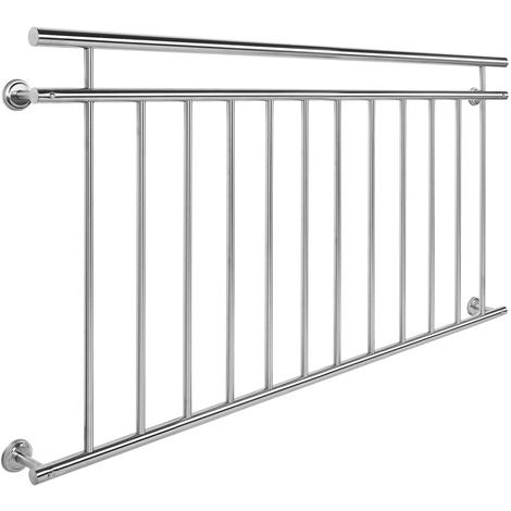 Ringhiera del balcone in acciaio inox 90 x 156 cm Balcone alla francese Ringhiera a sbarre