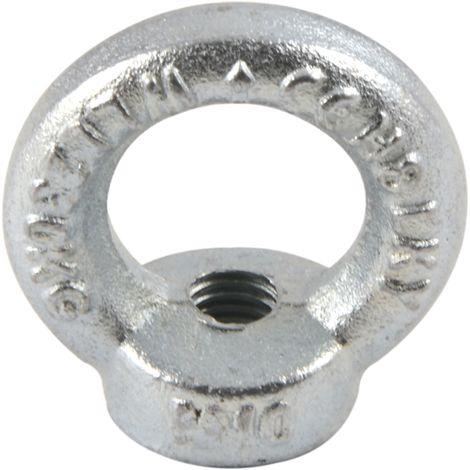 Ringmutter DIN 582 - C15E Stahl verzinkt-blau mit CE Kennzeichen