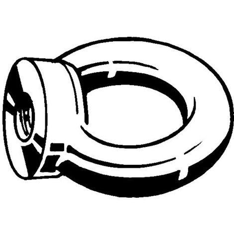 Ringmuttern M8 Edelstahl A4 DIN 582 mit Ce Markierung 10 Stk