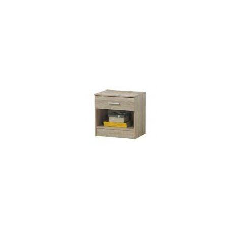 Rio Costa Bedside Cabinet Bedroom Furniture Nightstand Table 1 Drawer Sonoma Oak