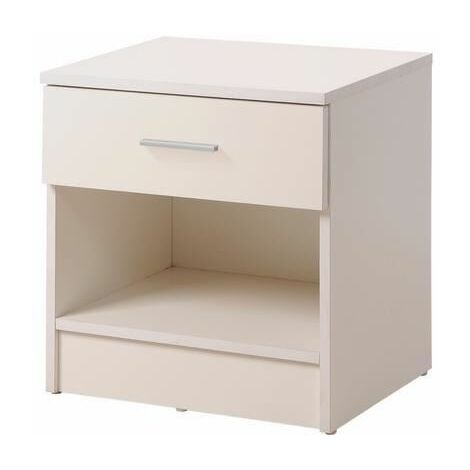 Rio Costa Bedside Cabinet Bedroom Furniture Nightstand Table 1 Drawer White