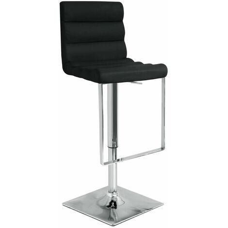 Rip Black Bar Stool Stool Chrome Footrest And Frame Height Adjustable