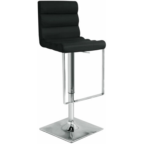 Rip Black Bar Stool Stool Chrome Footrest And Frame Height Adjustable Black