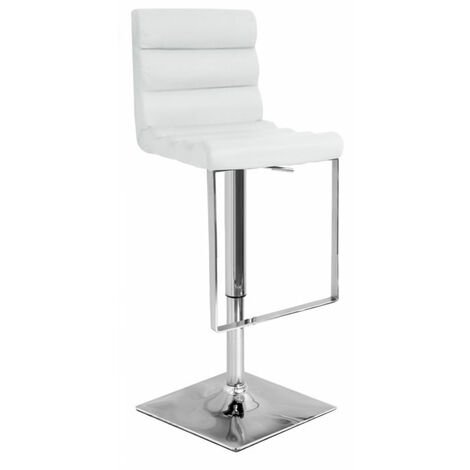 Rip White Bar Stool Stool Chrome Footrest And Frame Height Adjustable White