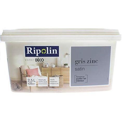 RIP.DECO MULTI SUPP.SAT.2.5L GRIS ZINC RIPOLIN PEINTURES 375246