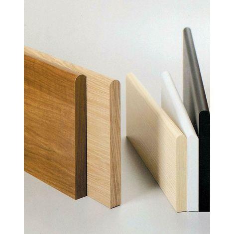 Mensola in legno colore noce cm 80x20x1.8h bordo arrotondato