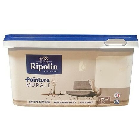 "main image of ""RIPOLIN Peinture Murale Blanc Satin 2,5 L - Blanc"""