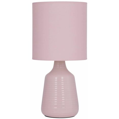 """main image of """"29cm Ceramic Table Lamp Bedside Lights White or Pink Ripple with Shades"""""""