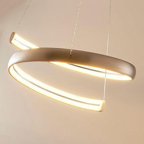 Risto - lámpara colgante LED en níquel