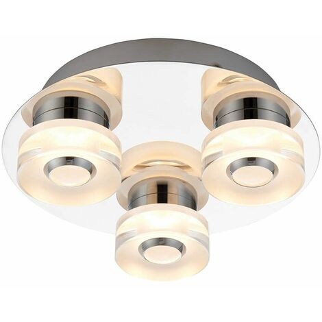 Rita ceiling light, acrylic, 3 bulbs
