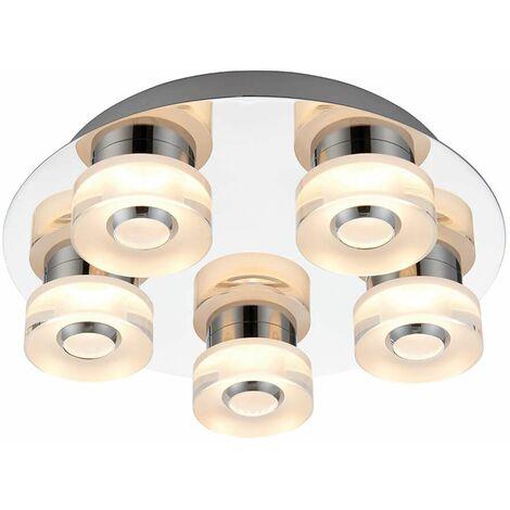 Rita ceiling light, acrylic, 5 bulbs