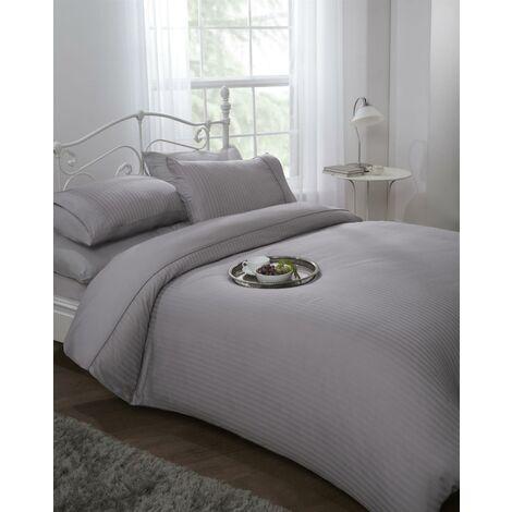 Ritz Duvet Cover Set 300TC 100% Cotton Silver Sating Bedding Double