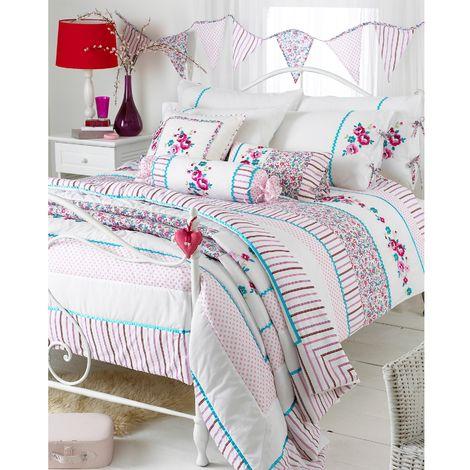 Riva Home Appleby Bedspread (240x260cm) (Kingfisher/Pink)