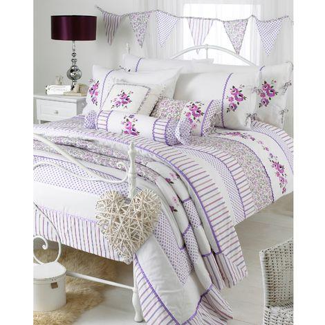 Riva Home Appleby Duvet Set (Double) (Heather)