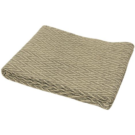 Riva Home Chevy Cotton Throw (150 x 200cm) (Grey/Natural)