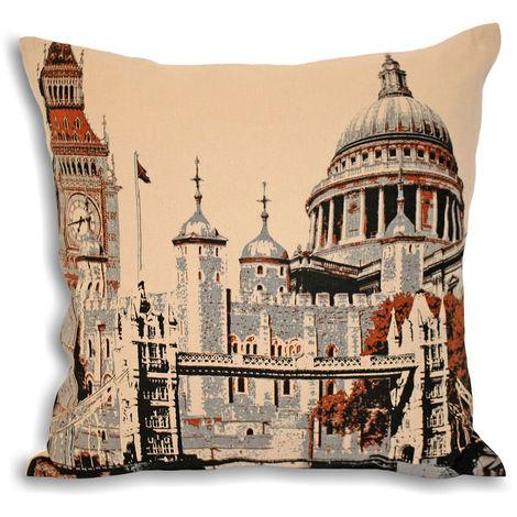 Riva Home City London Cushion Cover (45x45cm) (Cream)
