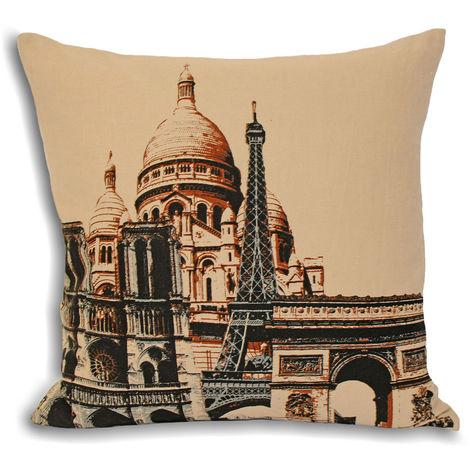 Riva Home City Paris Cushion Cover (45x45cm) (Cream)