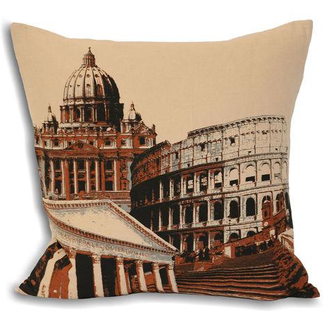Riva Home City Rome Cushion Cover (45x45cm) (Cream)