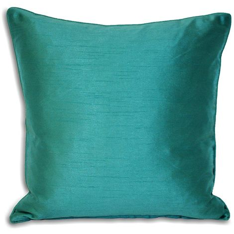 Riva Home Fiji Faux Silk Feather Filled Cushion (43 x 43cm) (Teal)
