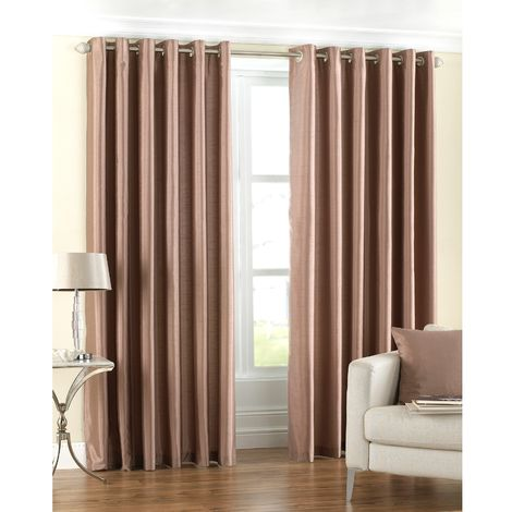Riva Home Fiji Faux Silk Ringtop Curtains