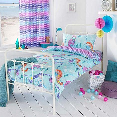 Riva Home Girls Mermaid Duvet Cover Set