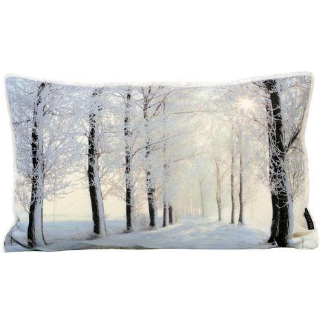 Riva Home Glitter Forest Cushion Cover (30 x 50cm) (Cream)