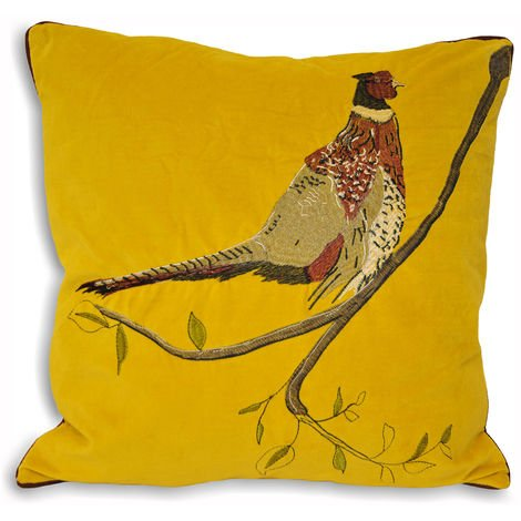 Riva Home Hunter Velvet Pheasant Cushion Cover