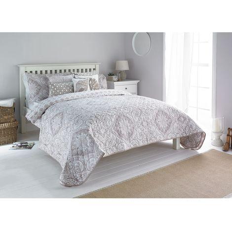 Riva Home Ionia Bedspread (240x260cm) (Driftwood)