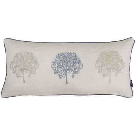 Riva Home Oakdale Tree Design Cushion Cover (30 x 65cm) (Silver)