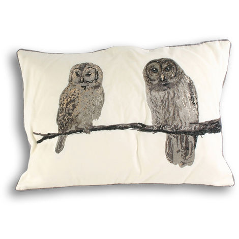 Riva Home Owl Cushion Cover (35x50cm) (Cream)
