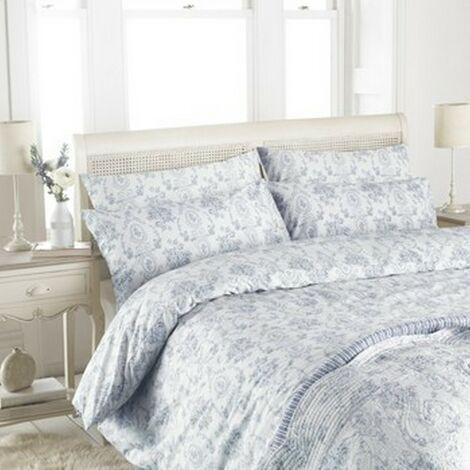 Riva Home - Parure de lit ETOILLE (200 fils/cm²) (Lit King Size) (Bleu)