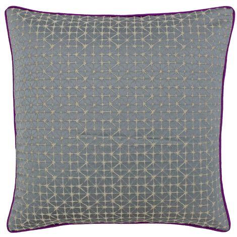 Riva Home Pimlico Geometric Diamond Design Feather Filled Cushion