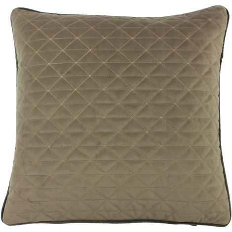 Riva Home Quartz Geometric Diamond Design Feather Filled Cushion