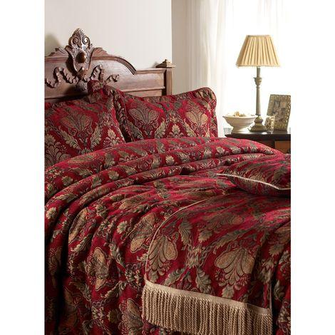 Riva Home Shiraz Bedspread (275x275cm) (Burgundy)