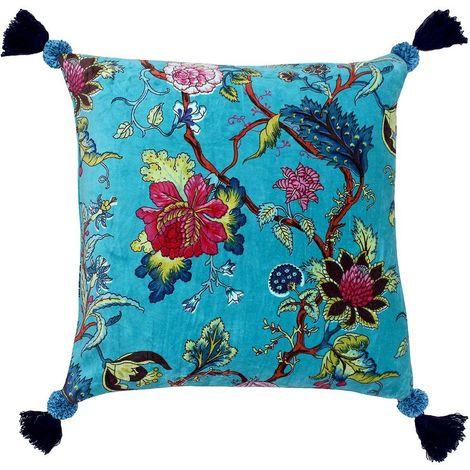 Riva Home Tree Of Life Down Fill Cushion (50 x 50cm) (Kingfisher)