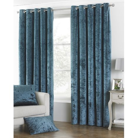 Riva Home Verona Velvet Style Eyelet Curtains