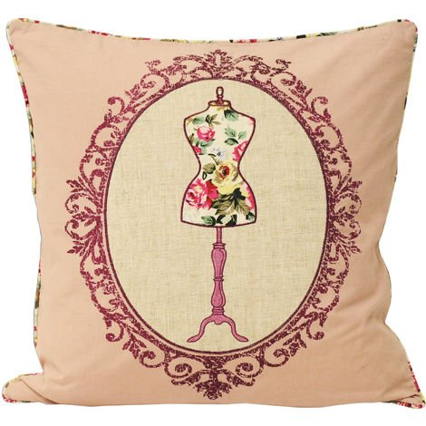 Riva Home Victoria Manequin Design Feather Filled Cushion